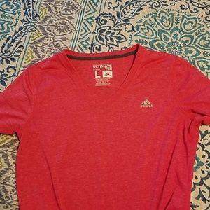 Adidas dry fit v neck shirt